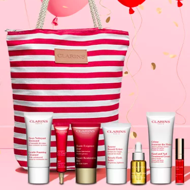 Clarins US: Free 8-pc Gifts with $100 Order