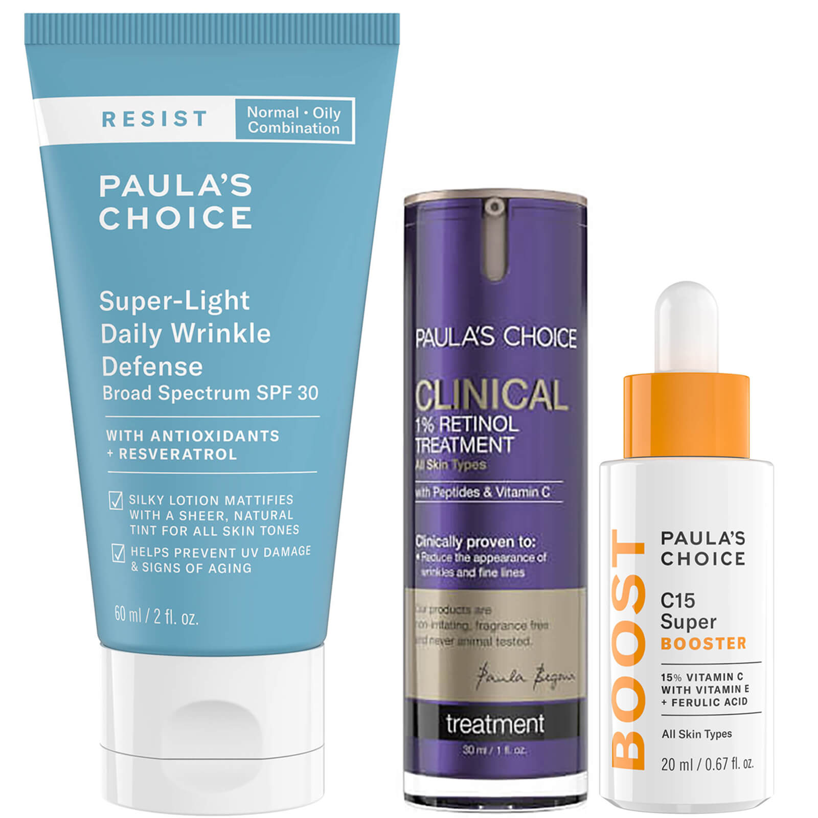 Lookfantastic US: Paula's Choice Radiant Skin Essentials 15% OFF + Free Gift
