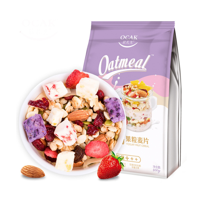 Yamibuy: OCAK Yogurt Fruit Nuts Dry Snack Lactic Acid Fruit Oats 400g