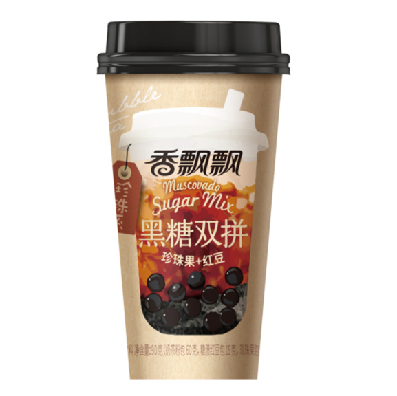 Yamibuy: XIANGPIAOPIAO Brown Sugar Milk Tea with Boba and Red Bean 90g