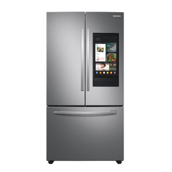 Samsung: 28 Cu. Ft. 3-Door French Door Refrigerator with Family Hub™ in Stainless Steel
