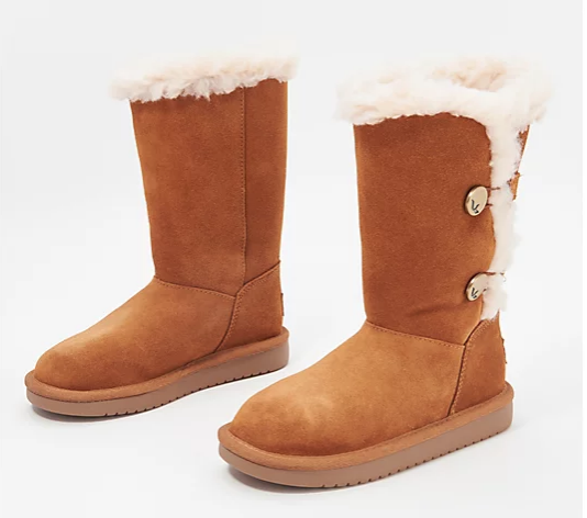 QVC: Koolaburra by UGG Choice of Short or Mini Suede Button Boots Starting at $49.95