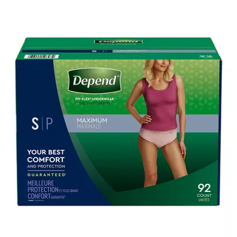 Sam's Club: Depend Fit-Flex Underwear for Women for $42.98