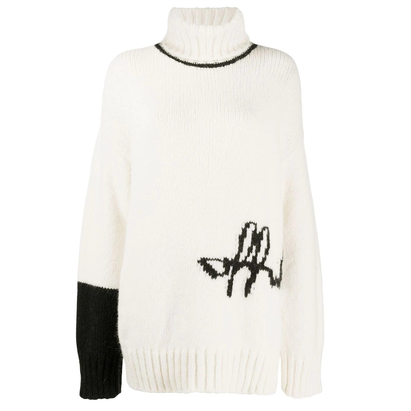 FARFETCH: 50% OFF Off-White Intarsia-knit Logo Jumper